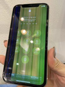 iPhoneXS絵機種不具合合修理前