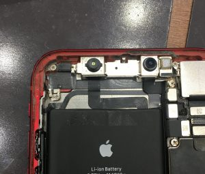iPhoneXR カメラ汚れ