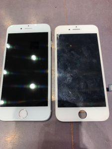 画面割れ・・・使えなくなる前に交換を!iPhone8の画面交換。【岡山県倉敷市よりお越しのお客様】