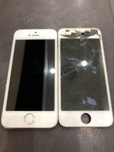 バキバキの画面でもご修理致します!!iPhone7の画面交換【岡山県津山市のお客様】