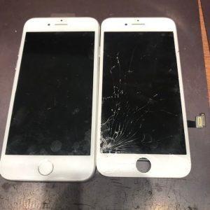 急に画面が真っ暗…画面交換で解決!iPhone8の画面交換【倉敷市のお客様】