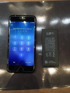データはそのままで、ご修理いたします!!iPhone6のバッテリー交換 スタッフ募集中!!土日祝日入れる方大歓迎!!〈岡山県倉敷市のお客様〉