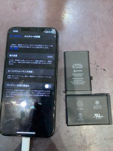 iPhoneXのバッテリー交換【岡山市よりお越しのお客様】