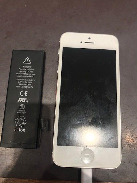 iPhone5Sバッテリー交換 ドックコネクタ調整【津山市からご来店】