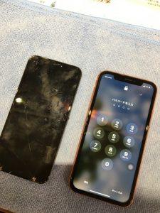 iPhoneXRでタッチが効かない