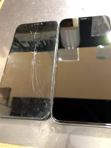 iPhoneXs画面交換 ガラスコーティング施工実績【イオンモール津山店】