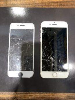 iPhone6sの画面(修理前)