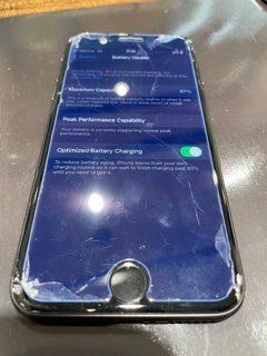 iPhone8のガラス割れ