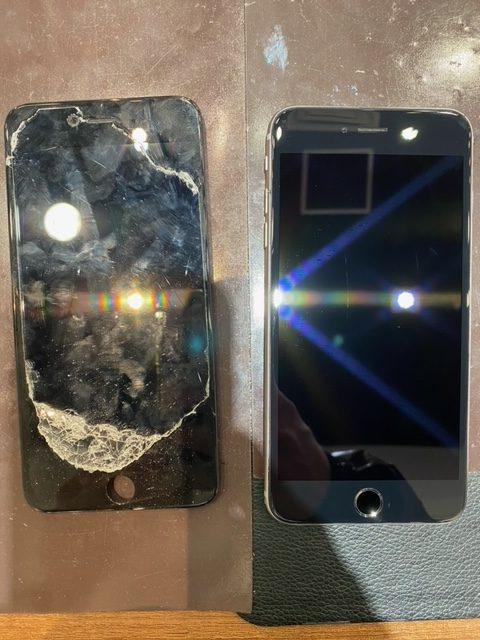 iPhone6s plus コーティング・画面交換 【橿原市よりご来店】