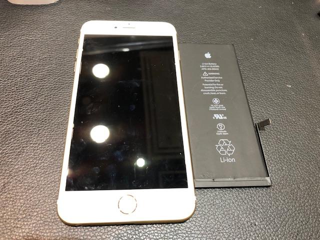 iPhone6sp バッテリー交換 【奈良県吉野郡】
