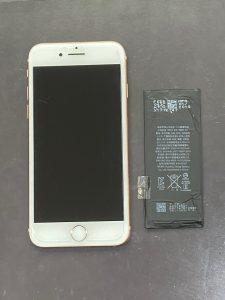アイフォーン8 バッテリー交換 直方市