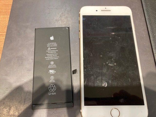 iPhone6S plusバッテリー交換 即日のお修理です!!
