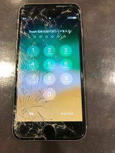 心当たりが無いのに割れてしまったアイフォン6