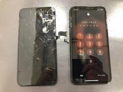iphoneX 画面交換後