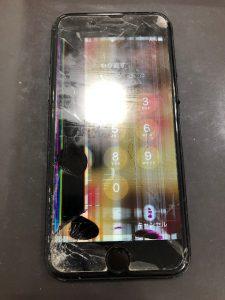 iphone7 画面割れと液晶漏れ