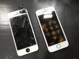 旧アイフォンSE画面修理