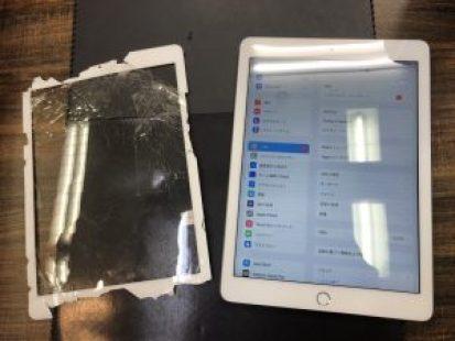 iPad6ガラス割れ修理