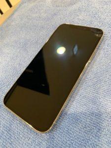 ガラスコーティングをしたiPhone