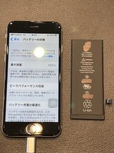 iPhone6Sのバッテリー交換・バッテリーは定期的に交換・仲多度郡のお客様