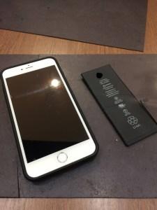 バッテリー交換をしたiPhone6S plus