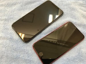 ガラスコーティングをしたiPhoneSE2・iPhoneXS