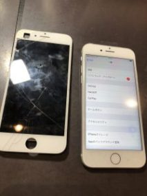 iPhone7 画面交換 横浜市からのご来店