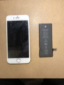 iPhone6 バッテリー交換 川崎市からのご来店