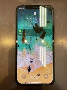 画面交換したiPhoneX