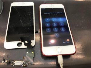 アイフォン7の画面とドック交換