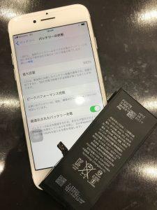 電池交換で新品同様の状態にもどったアイホン6s