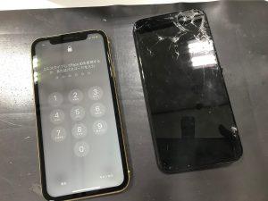 画面交換修理で復活iPhoneテンエスマックス