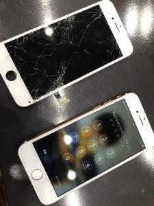 画面交換修理をしたアイフォン7
