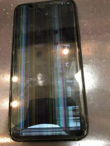 画面の殆どが見えないiPhoneテンエス
