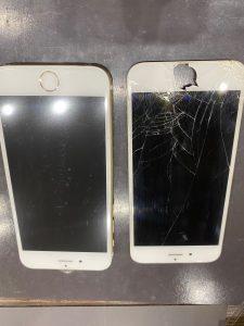 画面割れ、バッテリー劣化のアイフォン6
