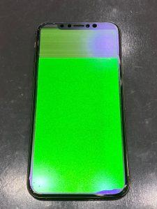 アイフォンXS液晶が緑に