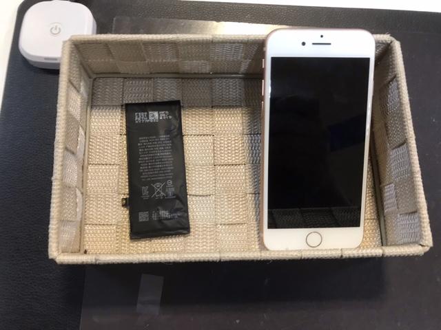 iPhone8 バッテリー交換[池田市からのご来店]