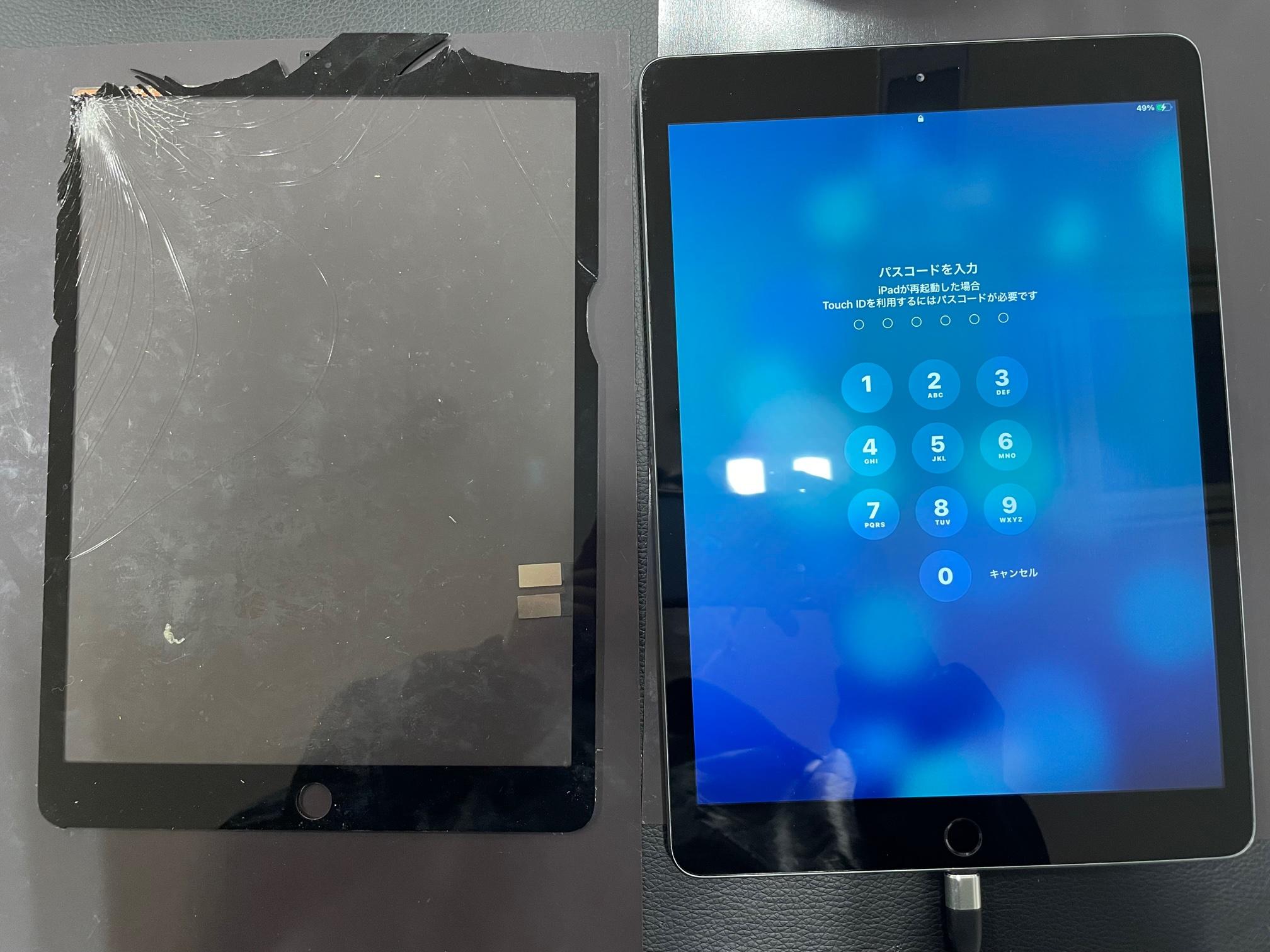 《iPad mini4│池田市からのご来店》割れてしまったフロントガラス、交換させて頂きました!