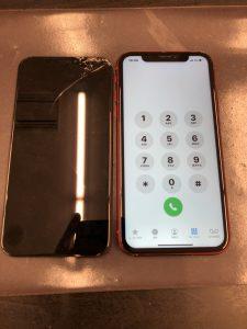 画面修理後iPhoneXR
