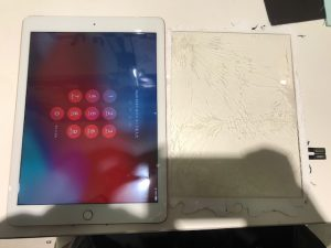 iPad6ガラス破損修理