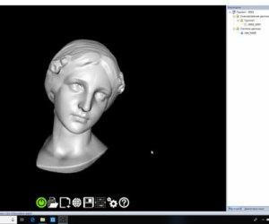 Quét 3D bề mặt tượng gốm sử dụng máy quét 3D cầm tay Thunk3D Fisher