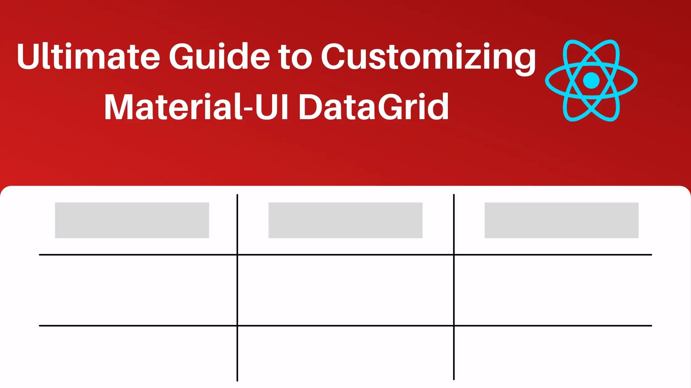 Material-UI DataGrid exampl