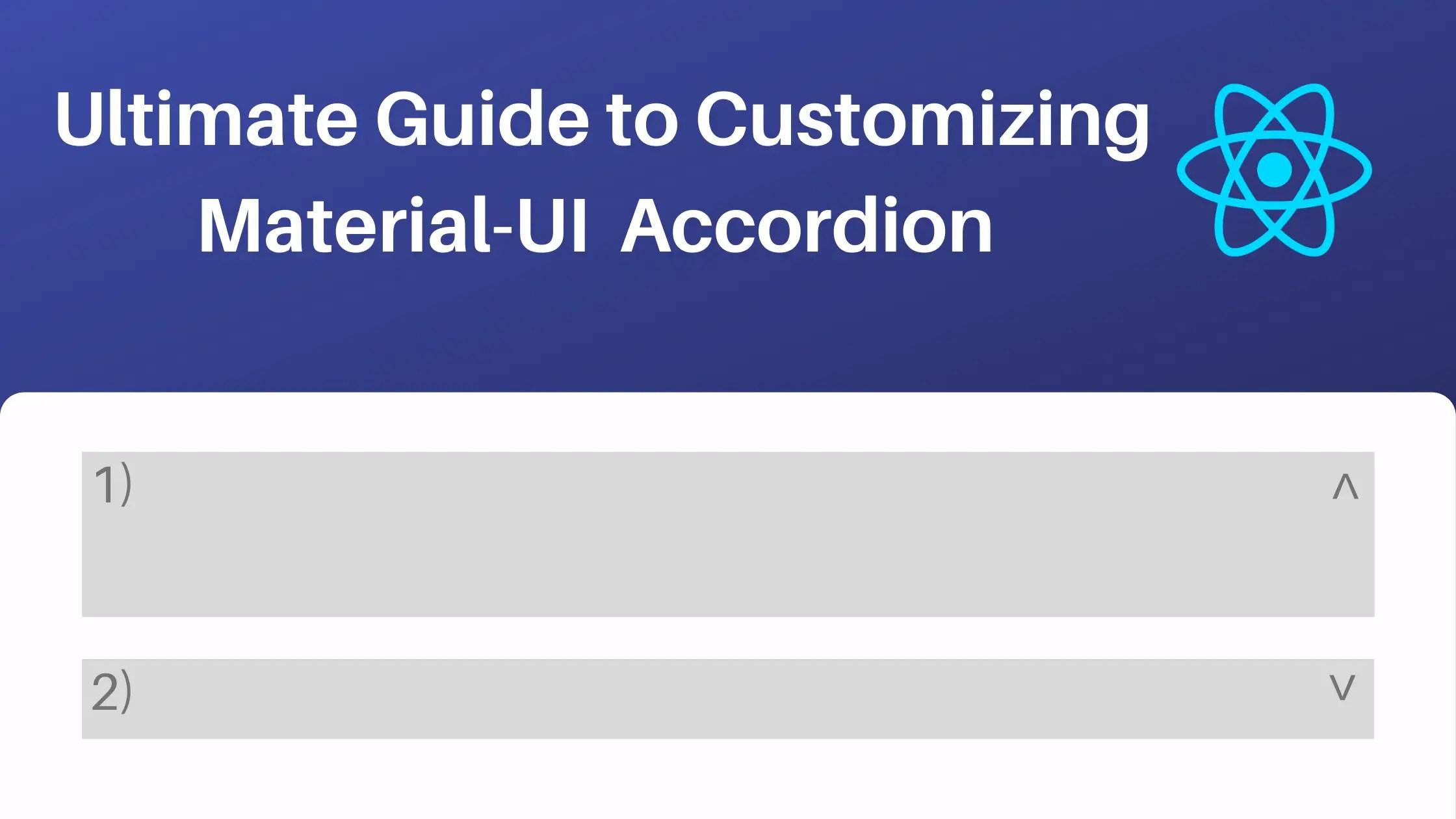Material-UI Accordion change icon
