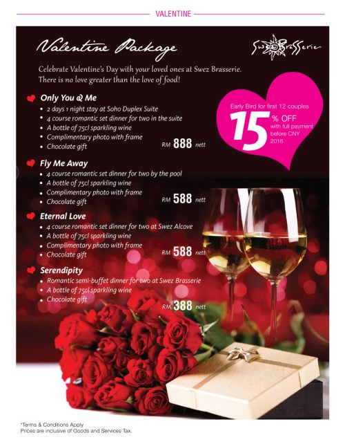 Valentine Set Dinner Menu 4