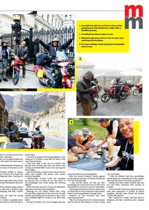 Ride of a Lifetime published in Malay Mail