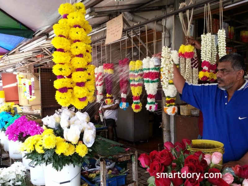 Little India's Oldest Flower Stall Pitt Street, Penang