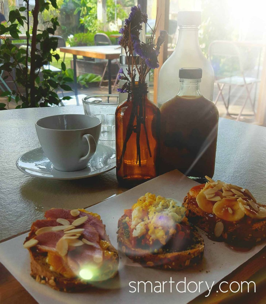 Trendy Cafe Style Western Big Breakfast with Eggs in Penang Tavern in the Park