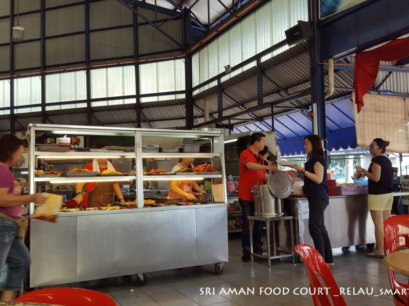 Economy Rice Lunch | Sri Aman Food Court, Penang