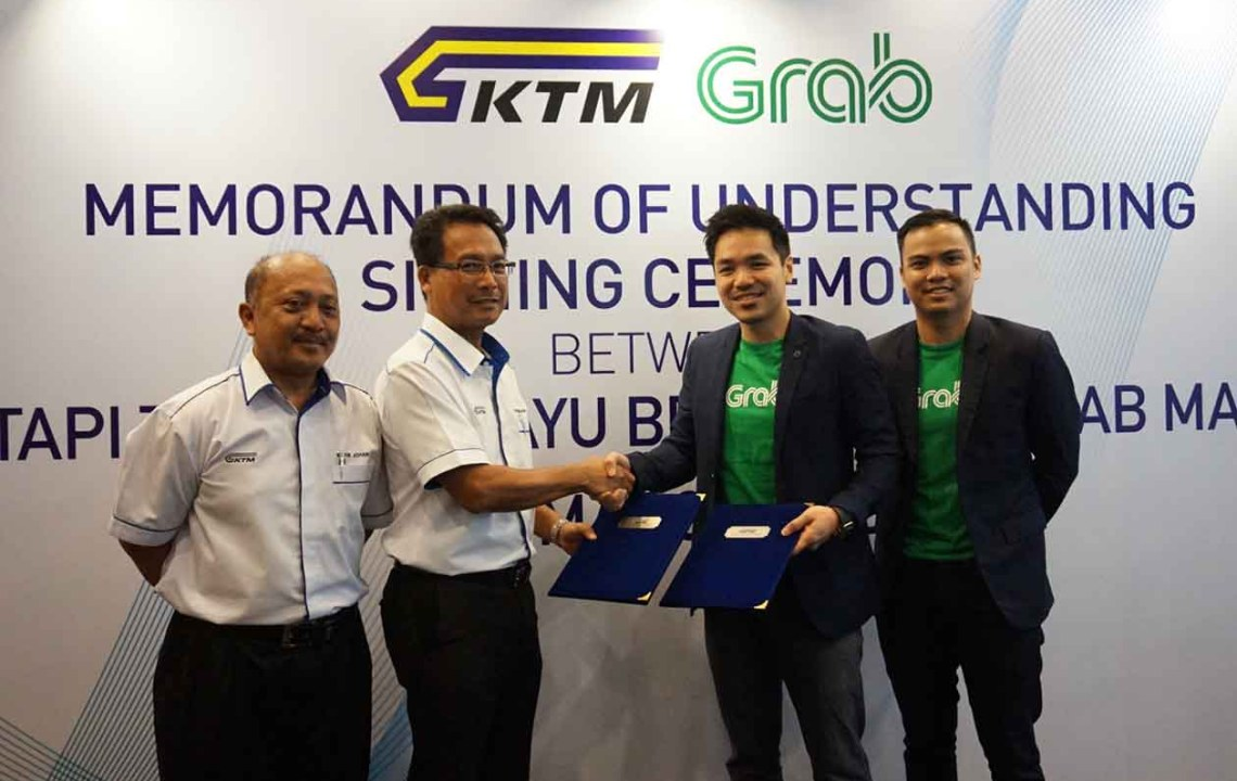 KTMB passengers to enjoy discounted Grab rides for Balik Kampung