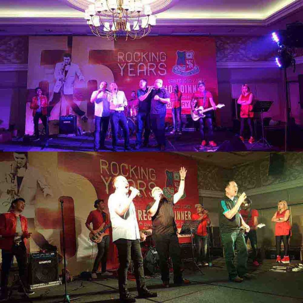 St. Xavier's Class of 80   82 Celebrate Rocking 55 Reunion_On Stage