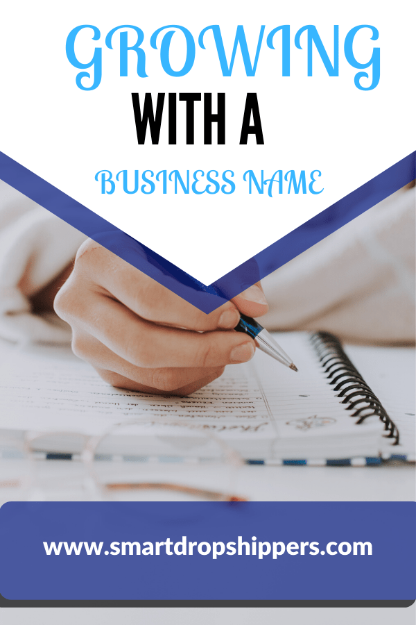 growing with a business name